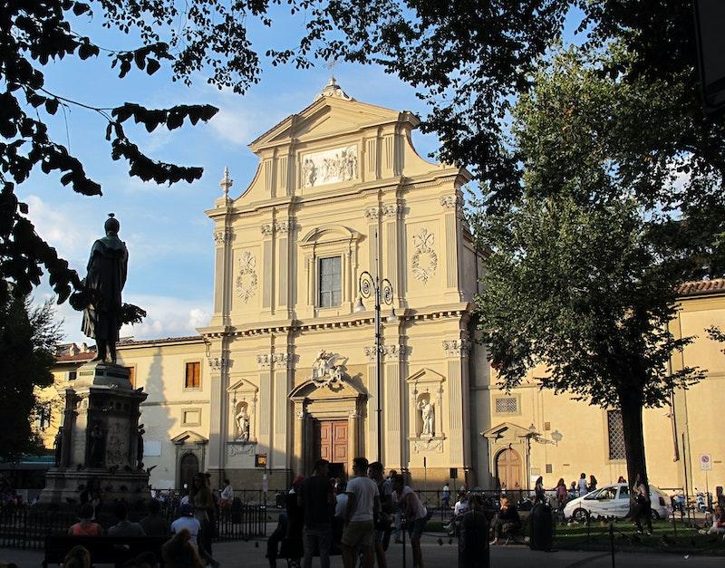1481022063 fi, chiesa di san marco con facciata restaurata, settembre 2013