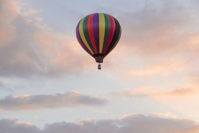 Hot Air Baloon over Chianti service acacia firenze