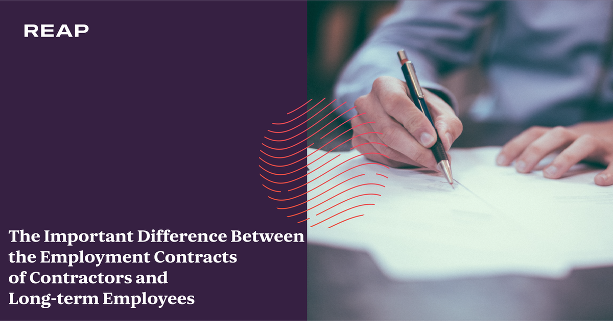 Cover Image for The Important Difference Between the Employment Contracts of Contractors and Long-term Employees