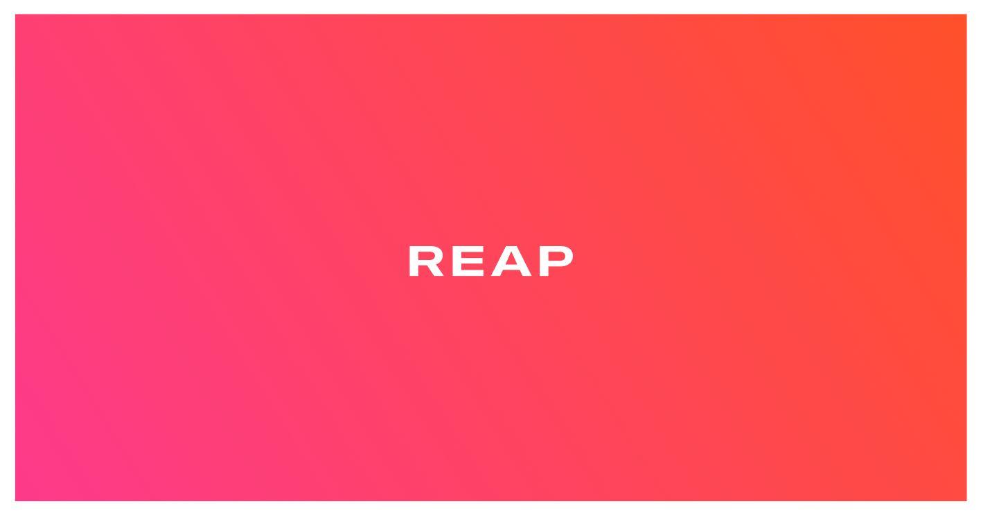 Reap logo banner