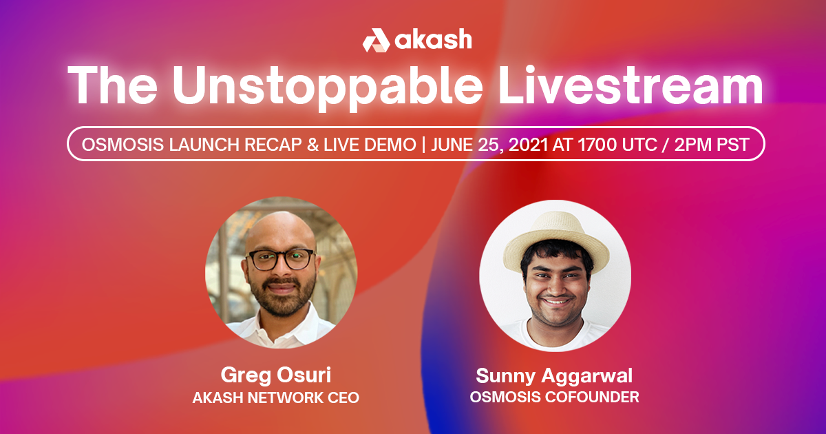 Unstoppable Livestream | Osmosis Launch Recap and Demo