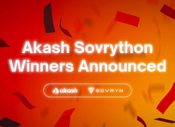 Everyone's a Winner in the Sovrython Hackathon Sponsored by Akash