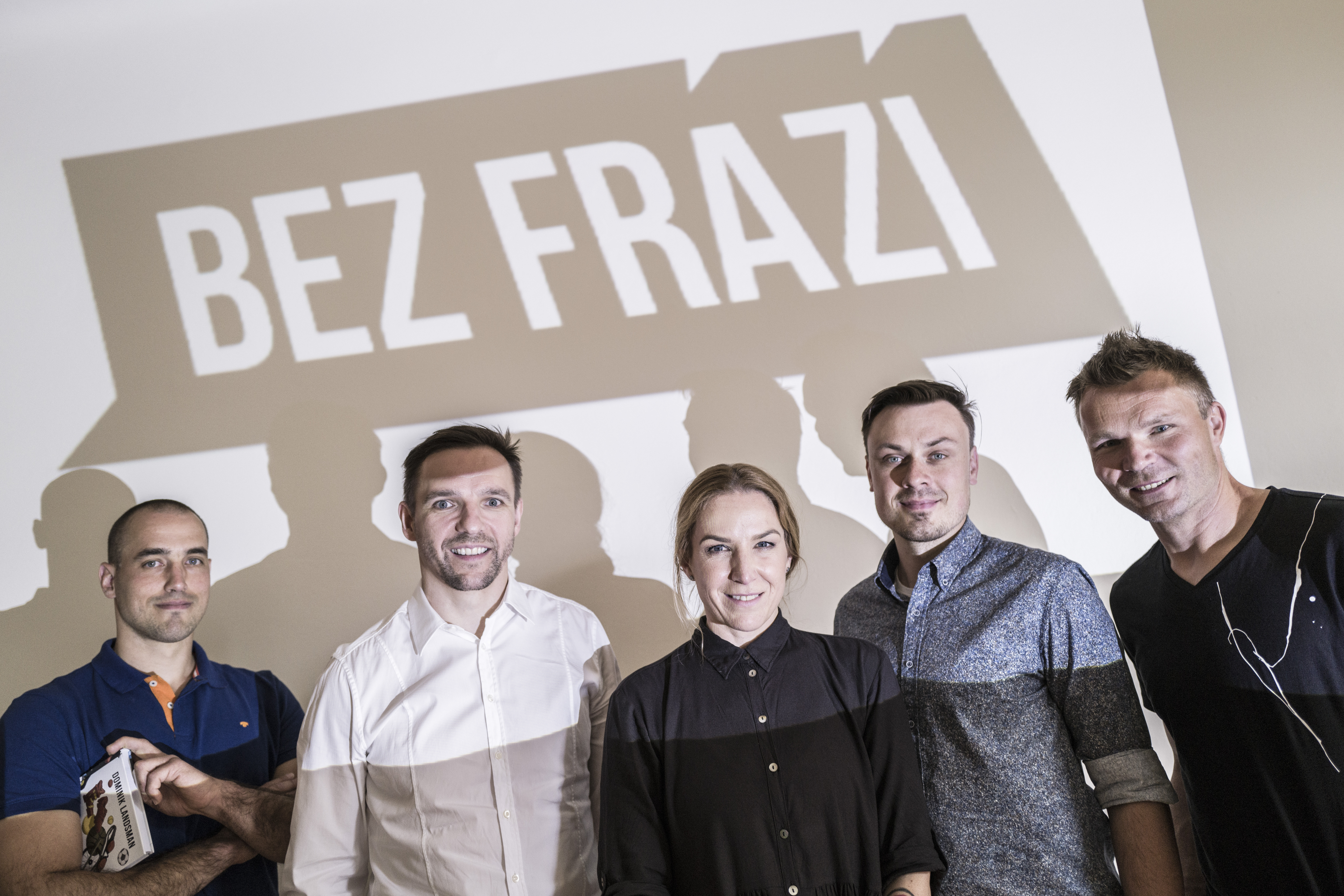 Hlavní osobnosti projektu Bez frází: František Prachař, Radim Vrbata, Jana Mansatorová, František Suchan a Karel Nocar