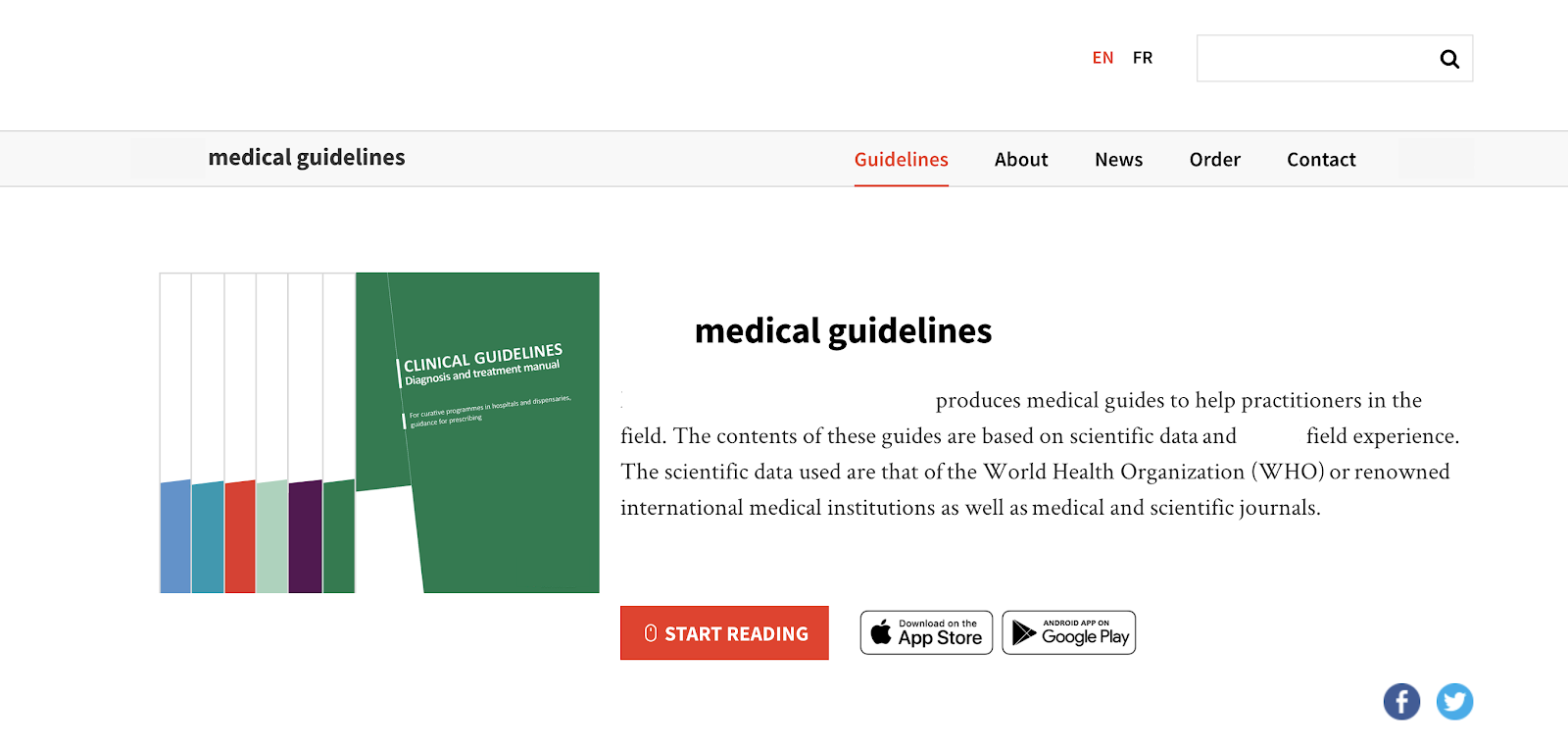 Mobile Screen: Clinical Guidelines