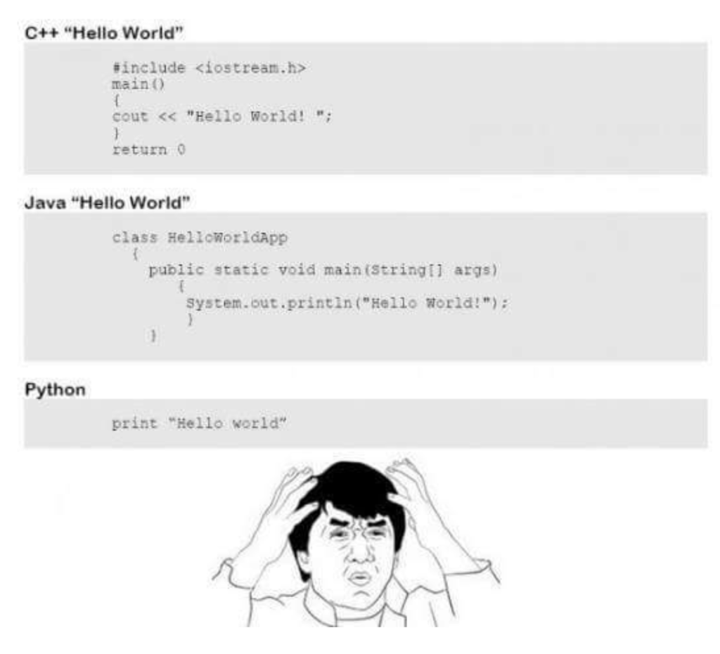 Code in different progamming languages and Bruce Lee