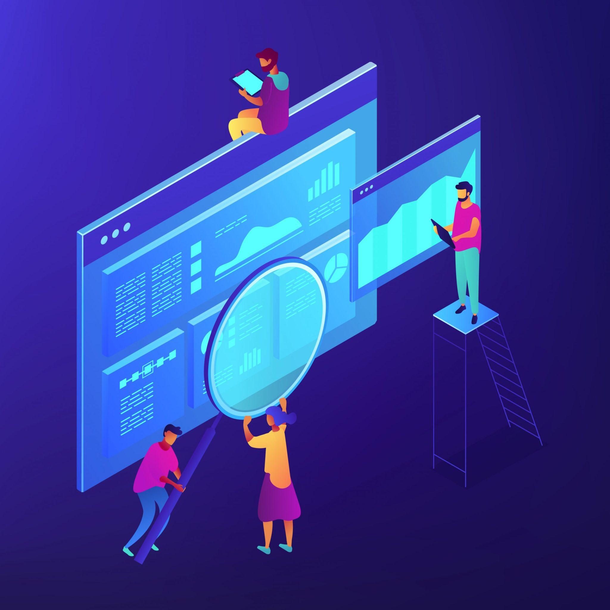computer screens - combining data
