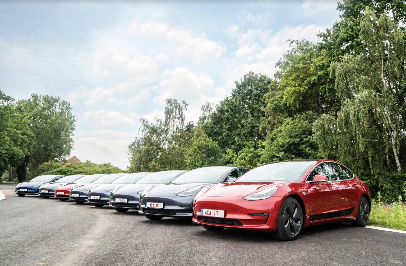 Tesla Wagenpark