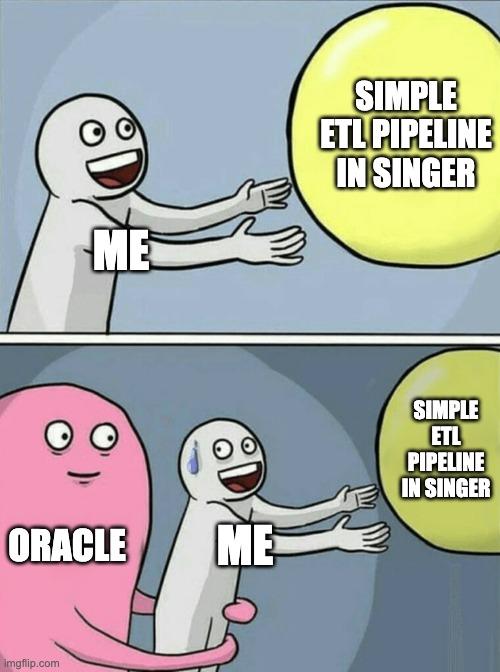 ETL pipeline singer and oracle