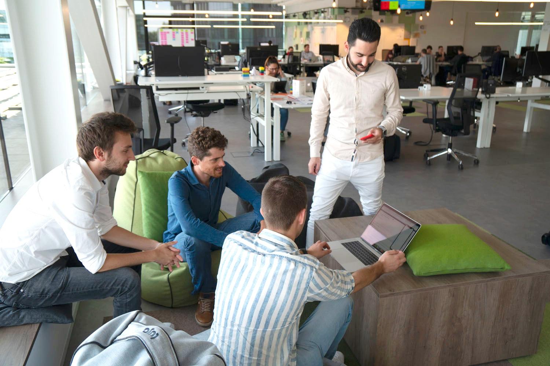 mobile team working on the mobile vikings app