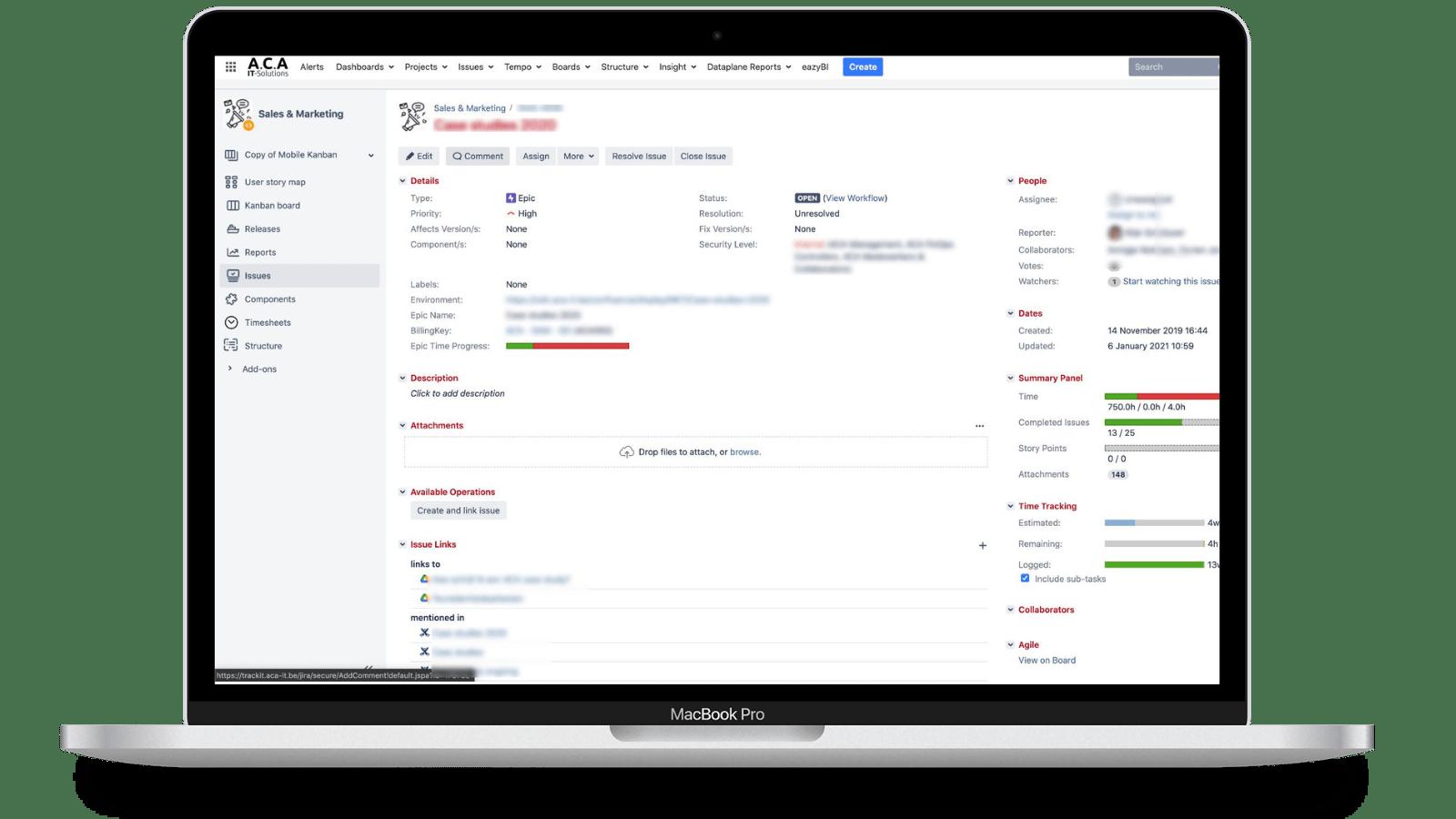 macbook mockup jira software management