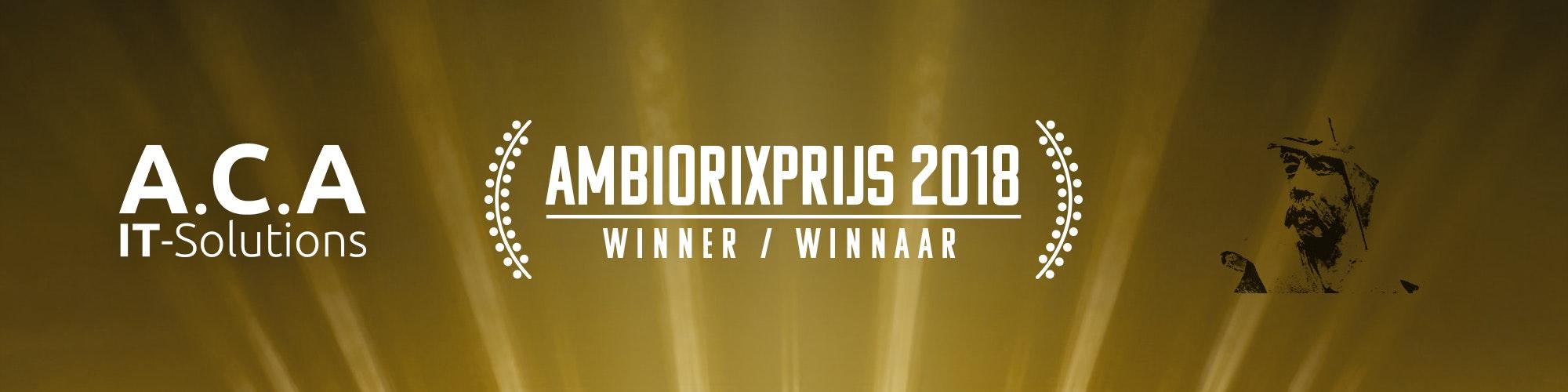 ACA wins Ambiorixprijs 2018