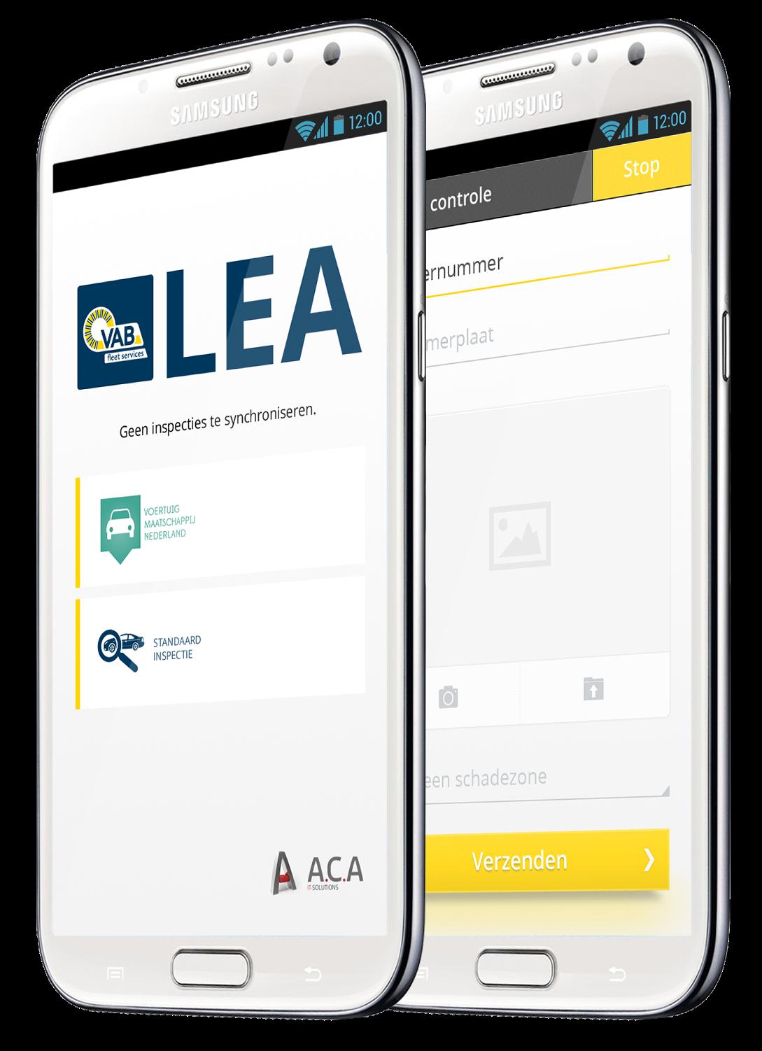 LEA inspection app VAB Fleet services