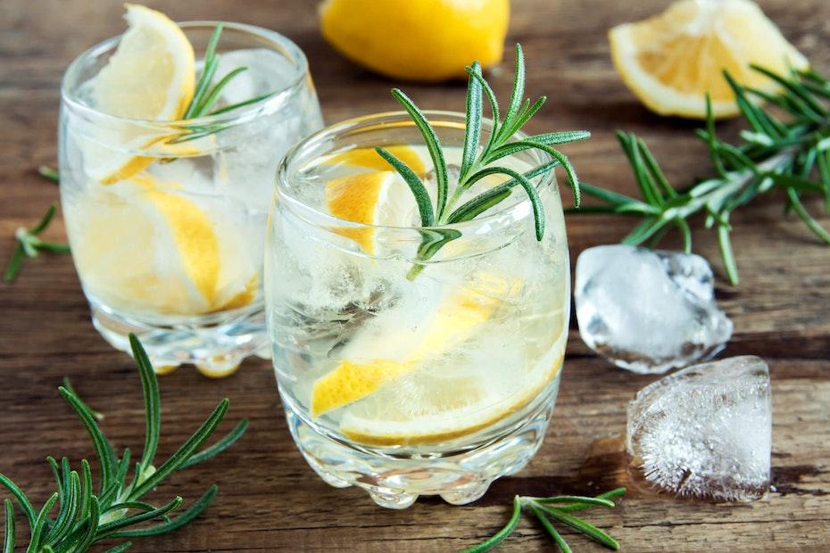 Tonic Water mit Zitrone