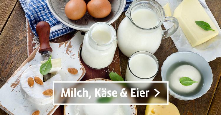 Milch, Käse und Eier aus der Region