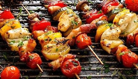 Veggie-Grillen mit Gemüse & Käse