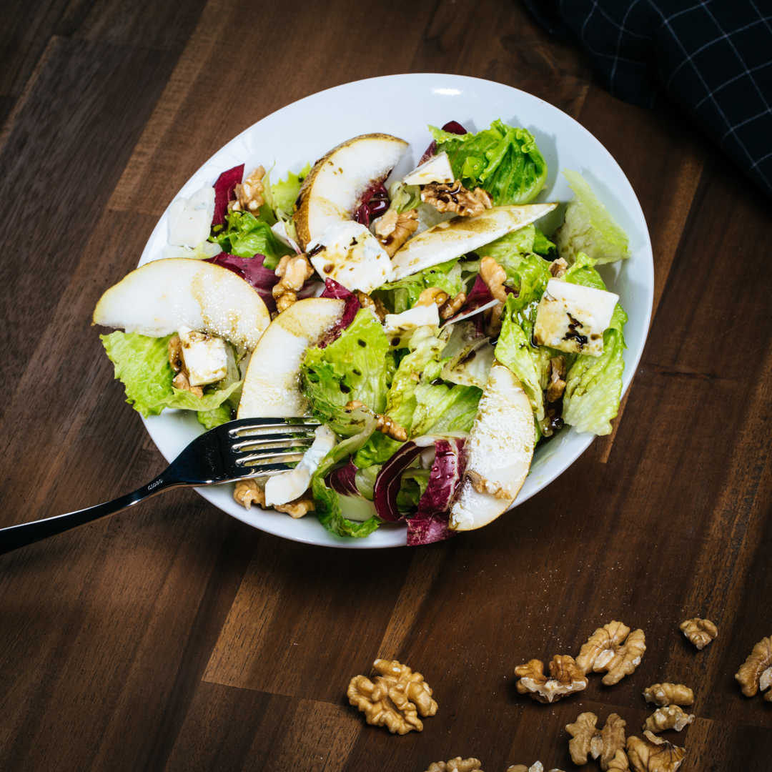Birne Gorgonzola Salat