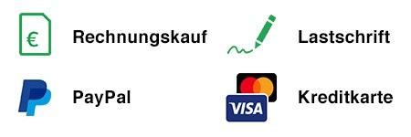 Unterschiedlichste Zahlungsarten