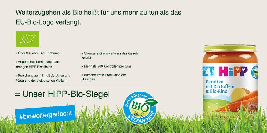 HiPP Biosiegel