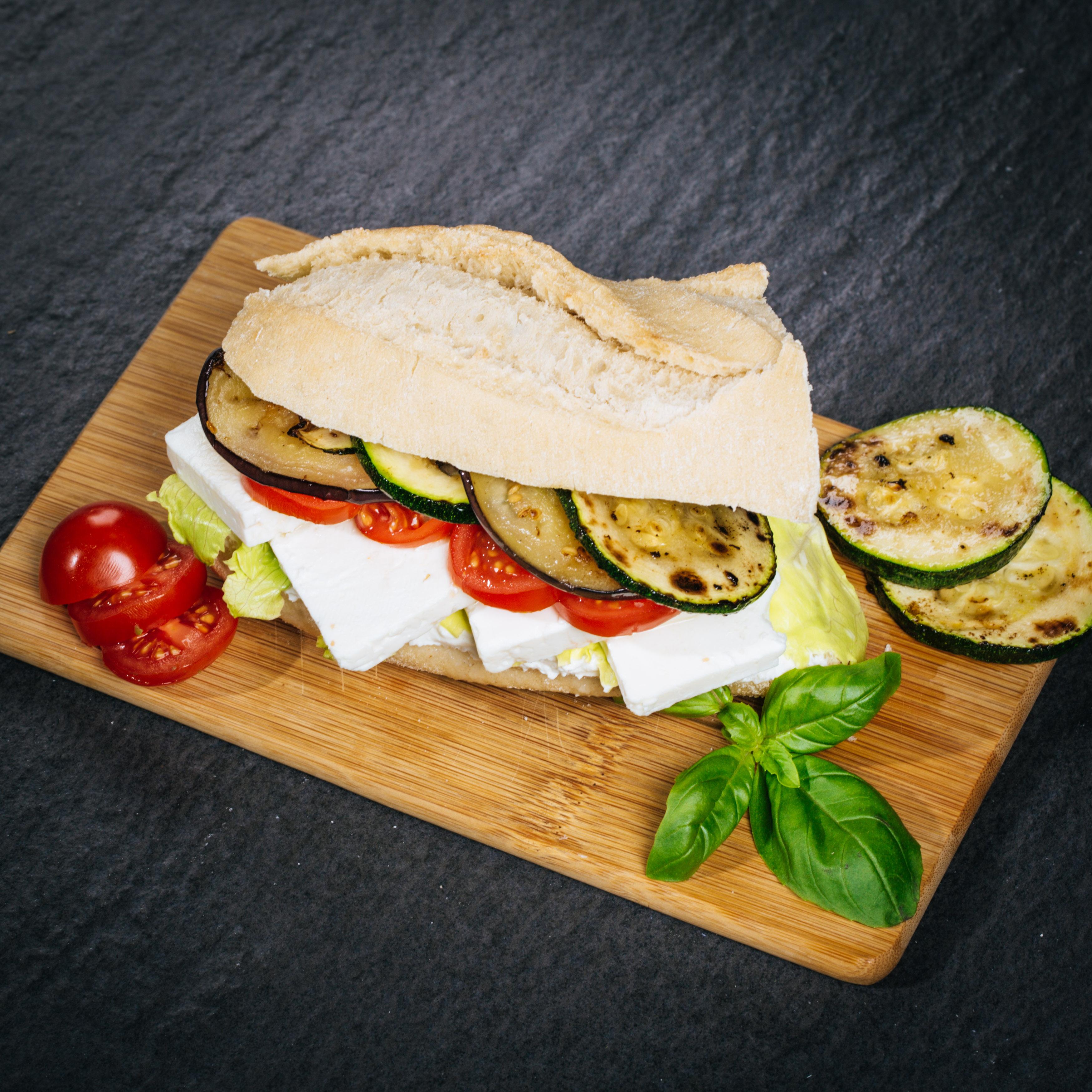 Vegetarisches Baguette