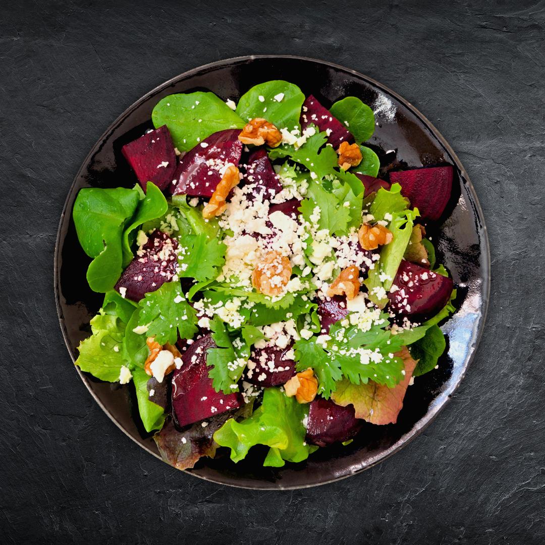 Spinat Rotebeete Salat