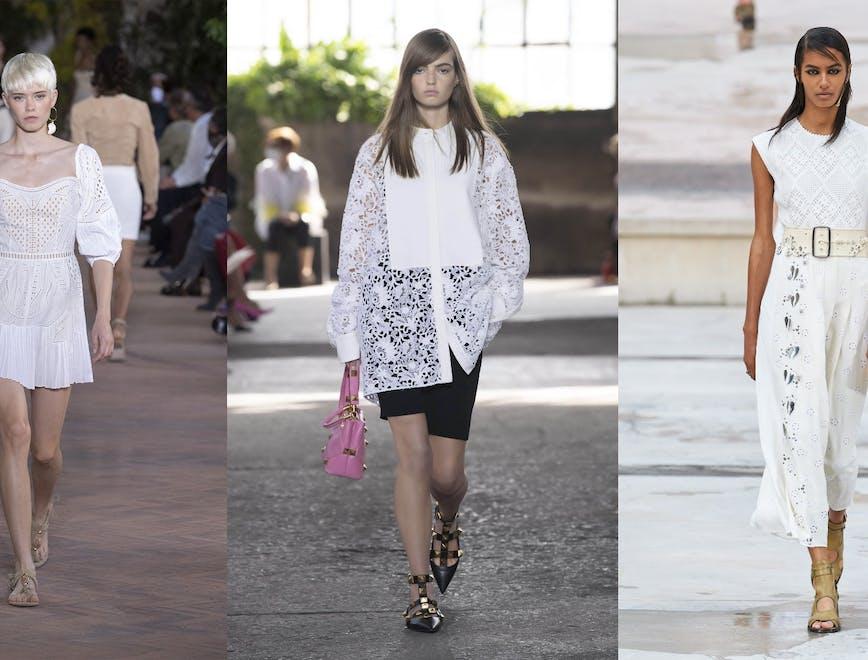 """""""Alberta Ferretti"""", """"Valentino"""", """"Chloe"""" 2021 m. pavasario ir vasaros modeliais, mados namų nuotr."""