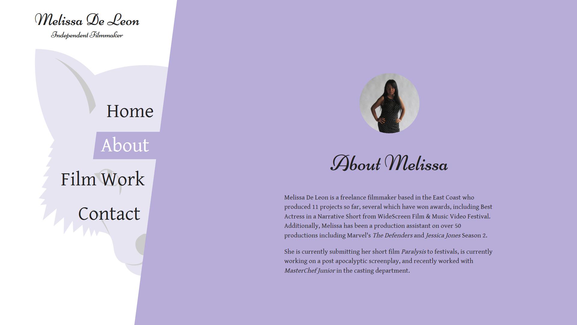 [Melissa De Leon's Website/Logo](http://melissadeleon.me)