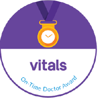 Vitals On Time Physician Award 2009-2018