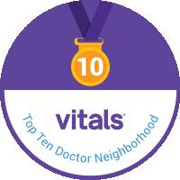 Vitals Top 10 Doctor by Metro Area Award 2014