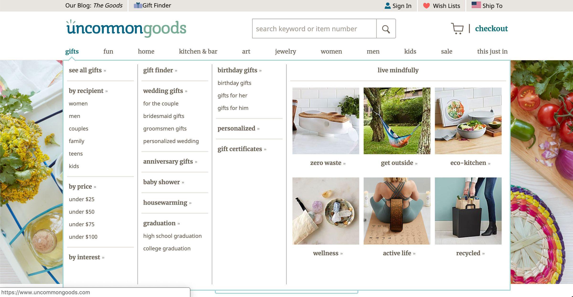 uncommon goods website