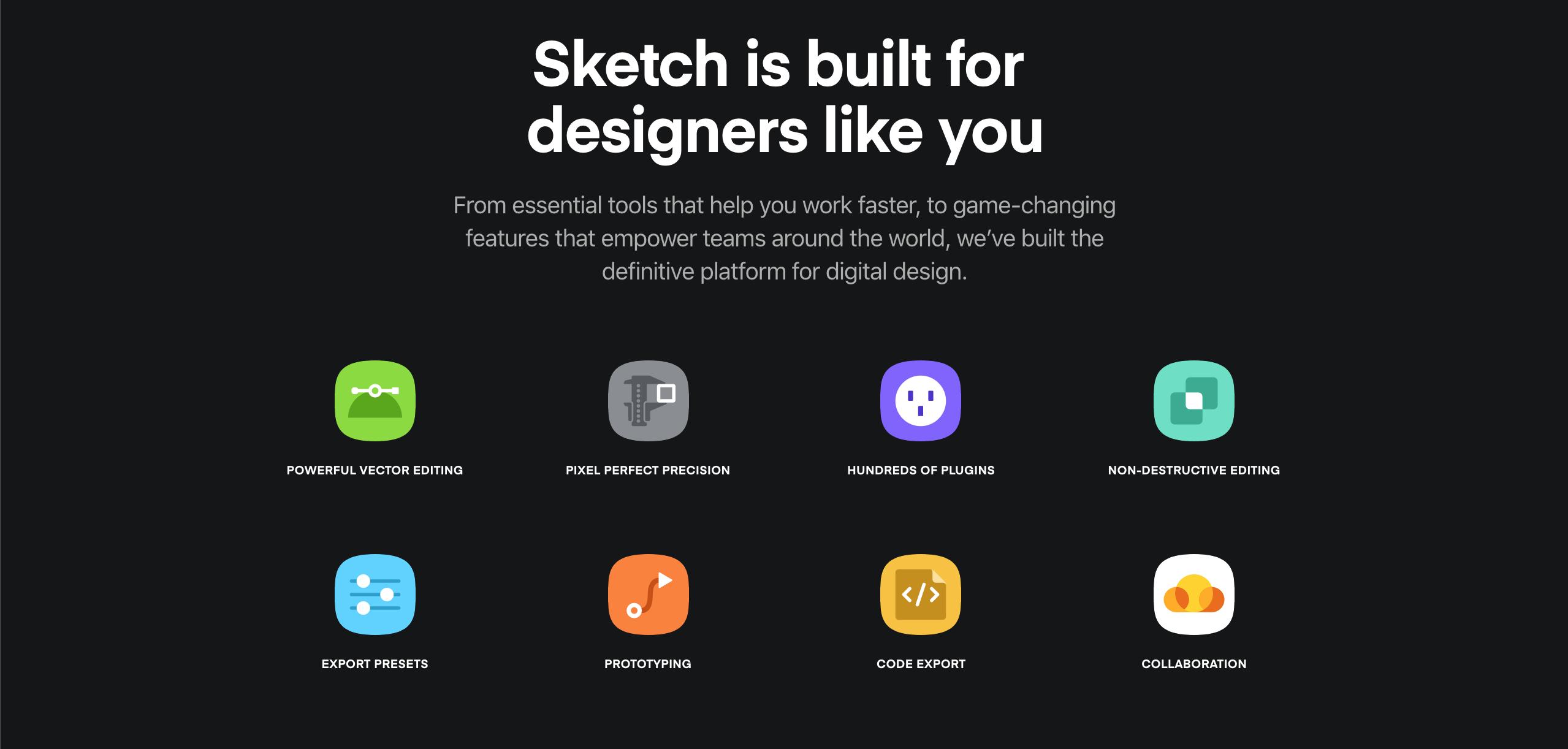 Sketch App main page