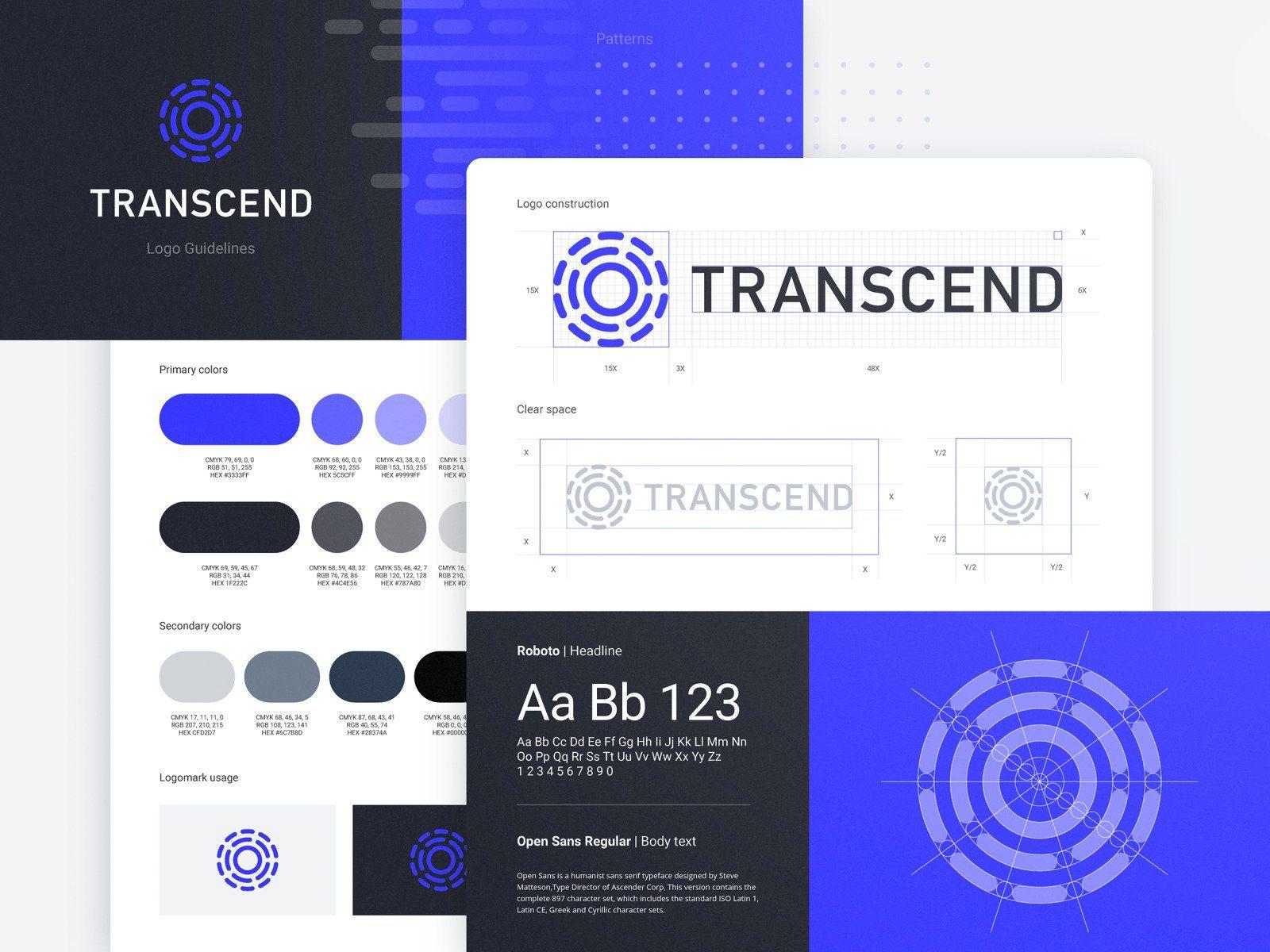 transcend logo grid