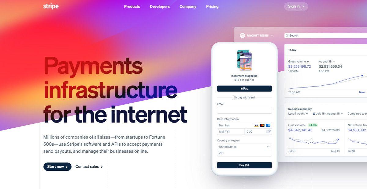 stripe website