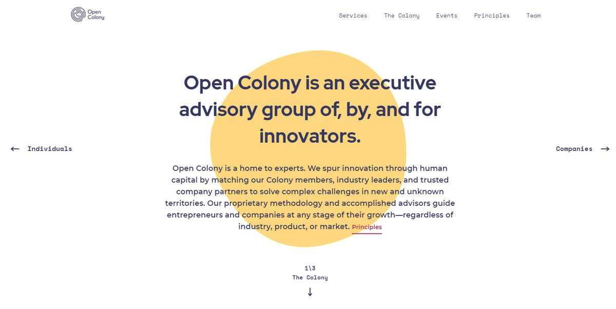open colony website