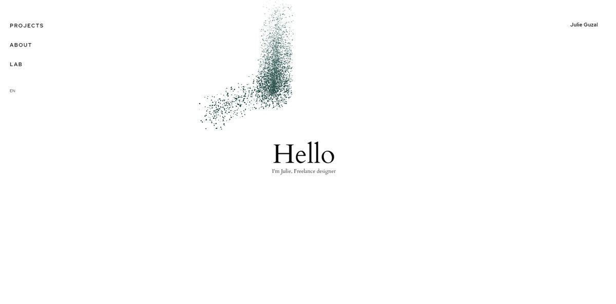 julie gazal web design portfolio