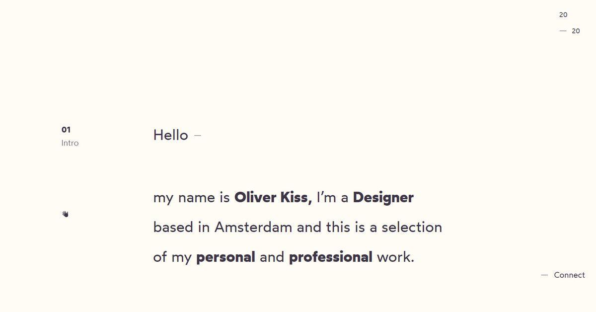 oliver kiss personal portfolio