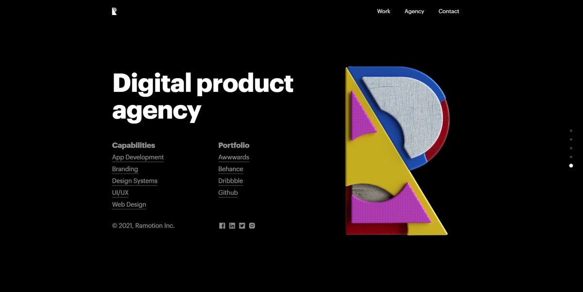 Website Footer Design from Ramotion