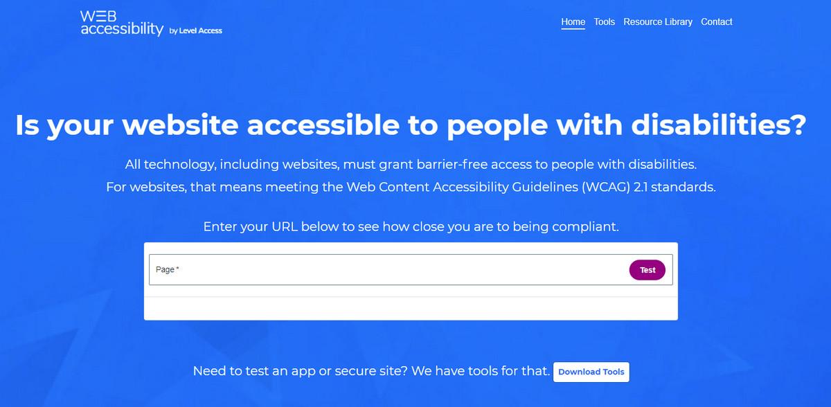 Web Accessability Test