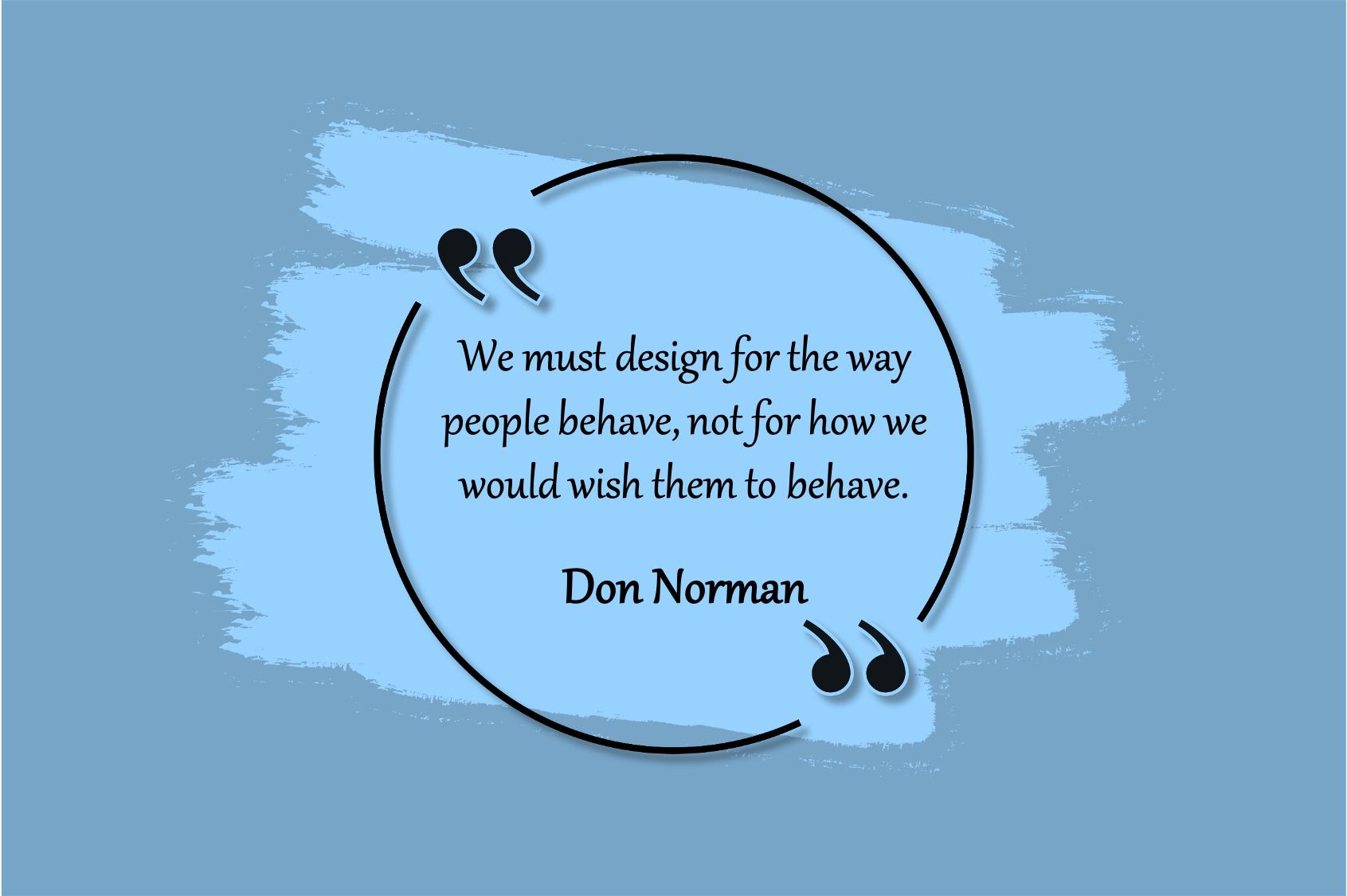 design the way people behave