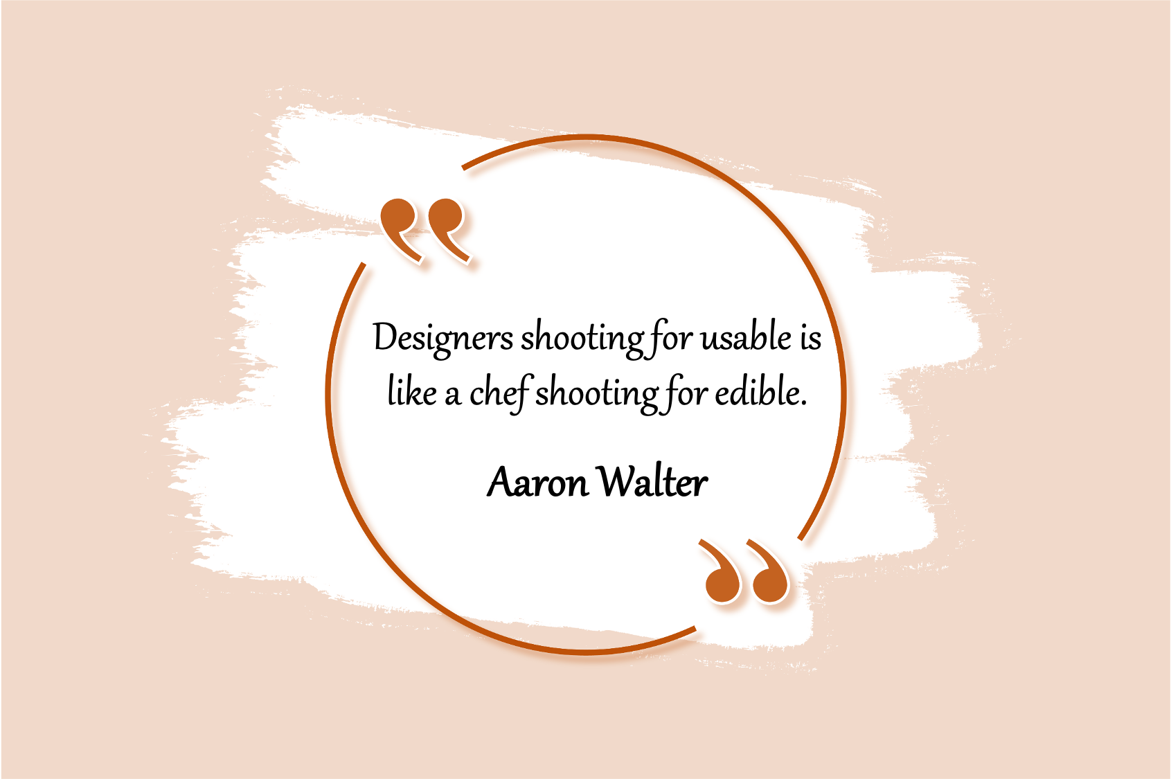 ux design quote just usable designs