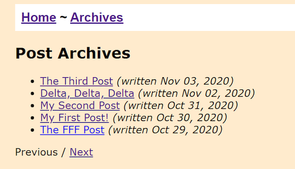 11ty Archive Results