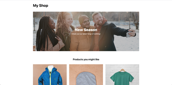 My Shop Homepage