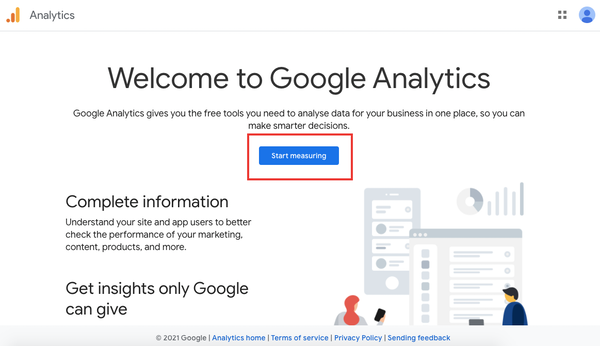 Start measuring for free with Google Analytics