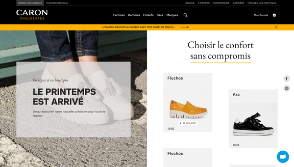 Caron Chaussures Home Page