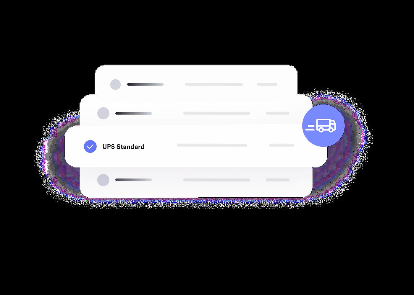 Illustration de solutions de livrason pour le e-commerce