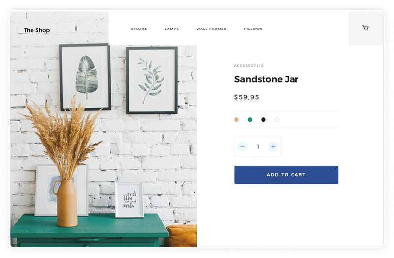 Product page with Snipcart buy button