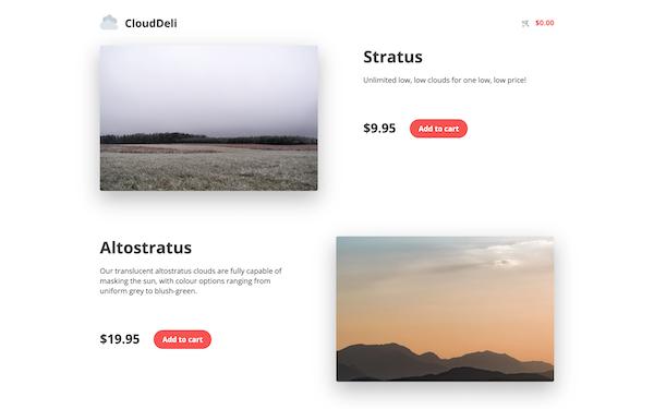 Hugo tutorial static site e-commerce demo homepage