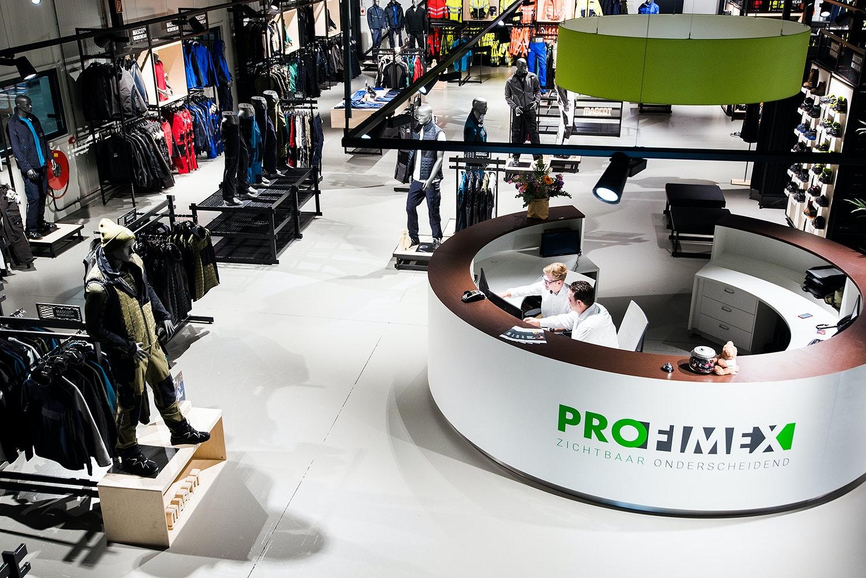 Showroom Profimex Bedrijfskleding