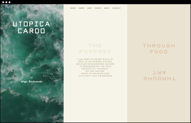 Cardo Utopica home page design