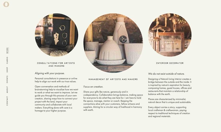 Cardo Utopica web page design