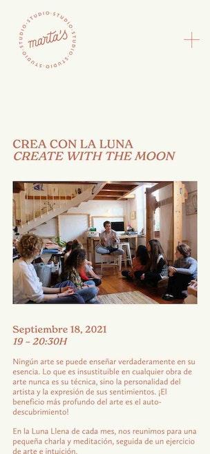 Marta Troya artist events page mobile